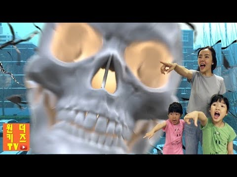 skeleton is coming! halloween finger family song and ghost adventure