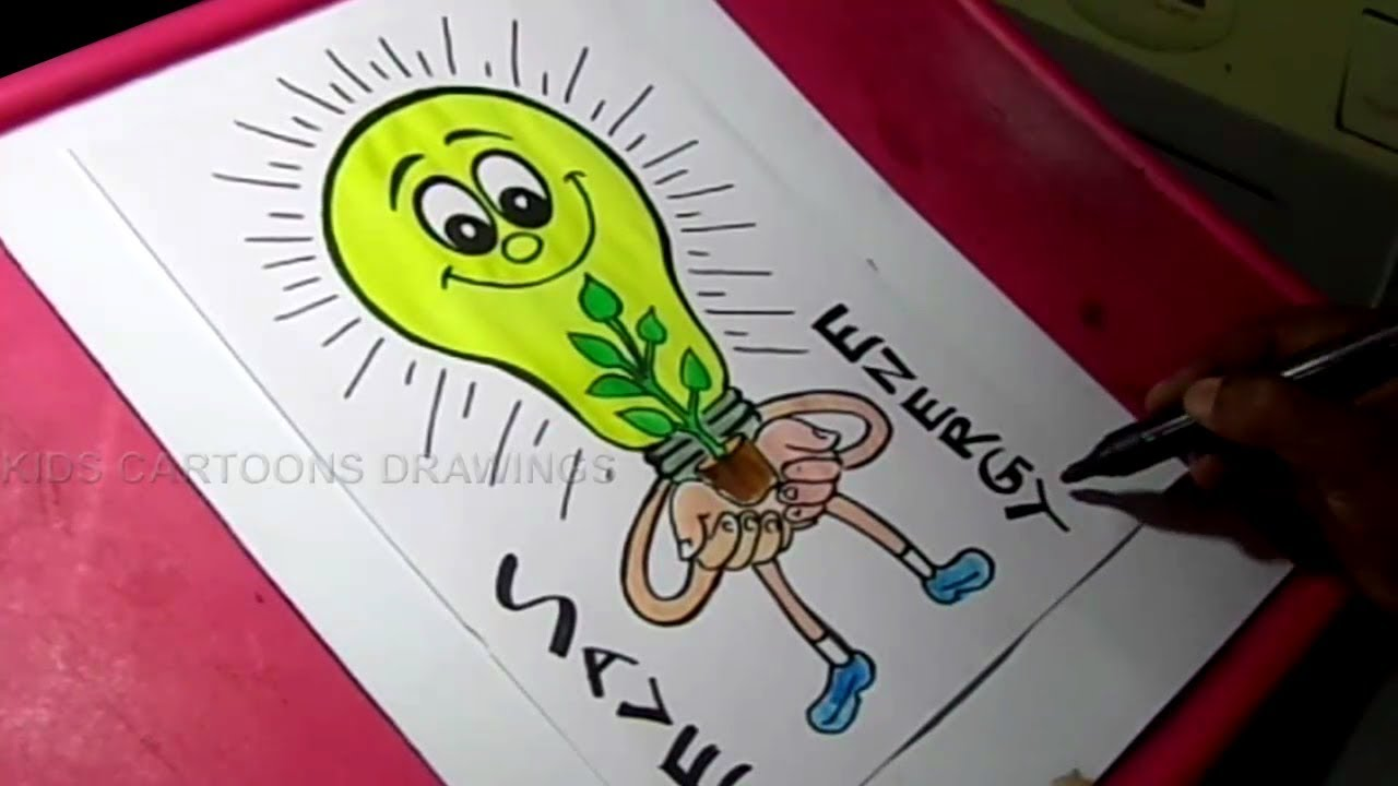 Conserve Electricity How To Draw Save Energy Save Electricity Save Power Poster Drawing For Kids