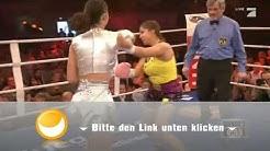 Indira Weis vs. Micaela Schäfer beim Promiboxen