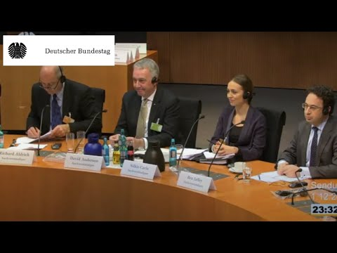 The German Bundestag: Hearing of British experts on Edward Snowden's revelations