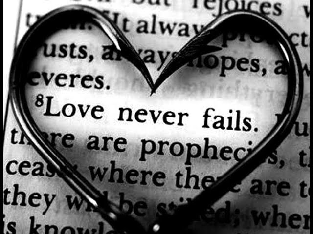 Love never fails  – #WNL   Reverend Iain Osborne