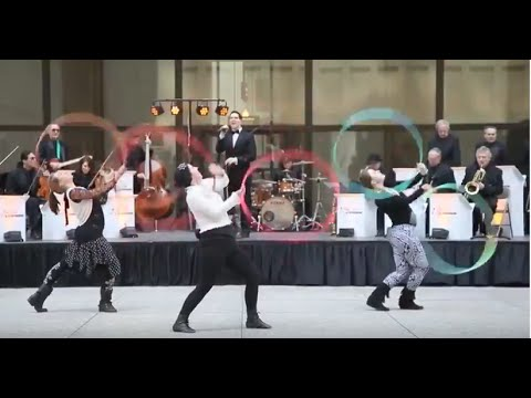 Chicago Hoop Dance performs in Key Tov Orchestra's Passover Songs Mashup Music Video - CUT VERSION