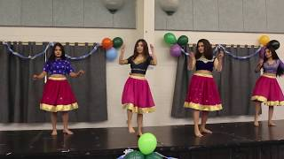 Girls group dance in nepali remix: thamel bazaar, kale dai, timro figure coca cola.