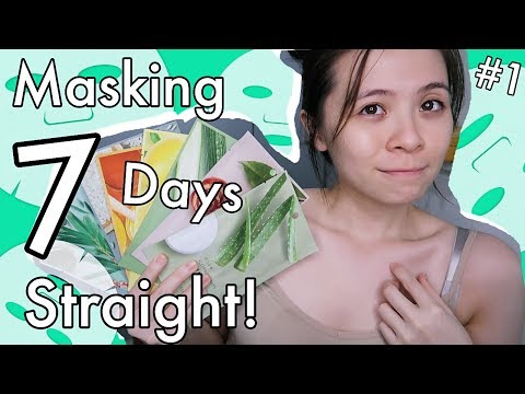 I Did Facial Mask EVERYDAY For A Week! Pt.1 \\ JQLeeJQ