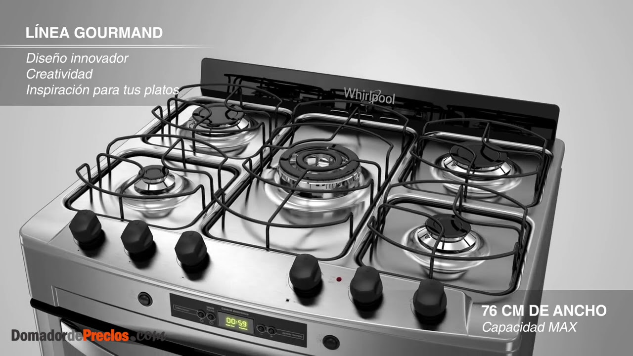 Cocina whirlpool wf360xg linea gourmand youtube for Cucina whirlpool