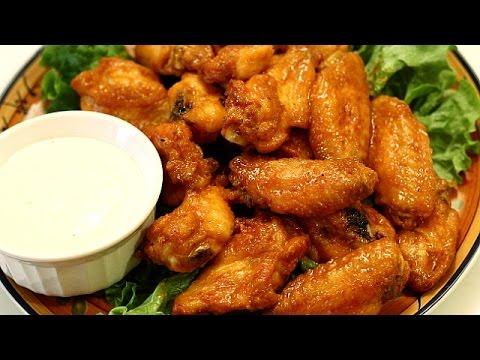 Crispy Chicken Wings - Baked Hot Wings W/ Buffalo Wing Sauce