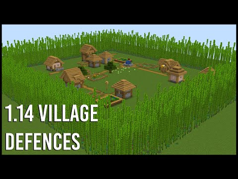 EASY Ways To Defend A 1 14 Minecraft Village - YouTube