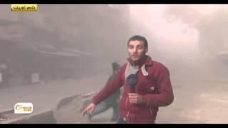 شاهد.. قصف عنقودي على الأسواق الشعبية بسوريا