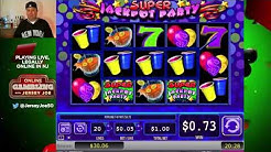 Super Jackpot Party slots LIVE [Online Gambling with Jersey Joe # 1]