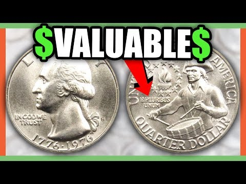 10 QUARTERS TO LOOK FOR IN POCKET CHANGE - RARE ERROR QUARTERS WORTH MONEY!!