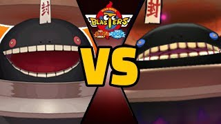 4 WOBBLEWOK vs ULTRA WOBBLEWOK in Yo-kai Watch Blasters (Theme Team)