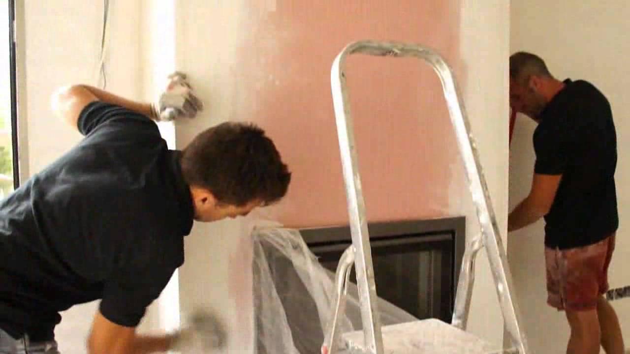 Como construir una chimenea moderna de le a en tu hogar - Como colocar una chimenea de lena ...