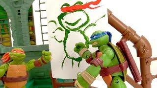Черепашки Ниндзя – Леонардо стал художником! – Видео для детей.
