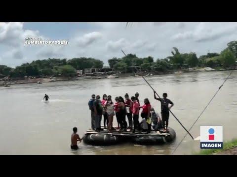 Cruzan el Río Suchiate durante la pandemia
