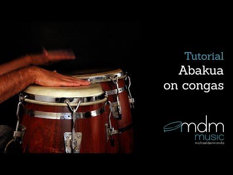Abakua on congas Free lesson by Michael de Miranda