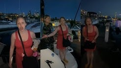 Demonic Karen Has a Temper Tantrum On a Harbor