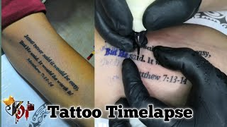 Bible verse tattoo