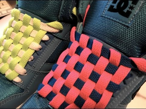 **How to Checkerboard Lace your Shoes with NO BOW**