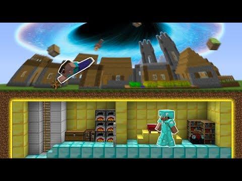 Minecraft NOOB vs PRO : SECRET BASE vs BLACK HOLE Challenge! Animation!
