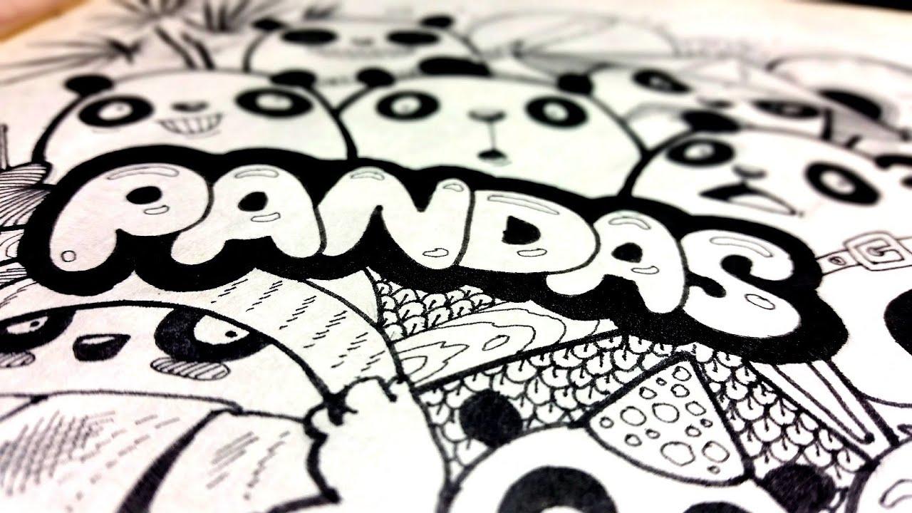 Doodle Pandas By