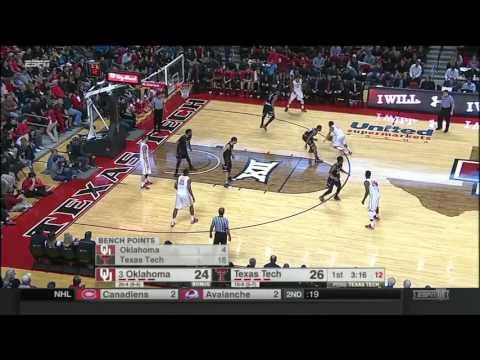 Oklahoma at Texas Tech | 2015-16 Big 12 Men's Basketball Highlights