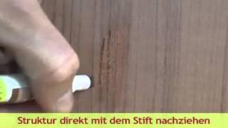 Mořící fix pro opravu odřenin a škrábanců na povrchu nábytku