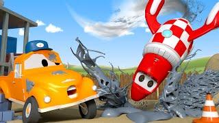 Роки ракета - Автомойка Эвакуатора Тома в Автомобильный Город 💧 детский мультфильм