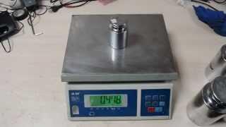 видео Купить электронные весы M-ER 326F-15.2 LCD Cube в Спб
