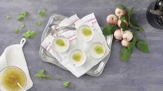Näin valmistat omena-inkivääri panna cottan maitojauheesta | Valio Reseptit