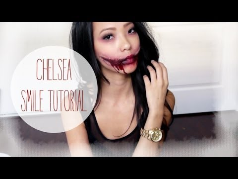 Chelsea Smile Halloween Tutorial - YouTube