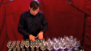 wine glass music-glass harp Hungarian dance No. 5-Brahms