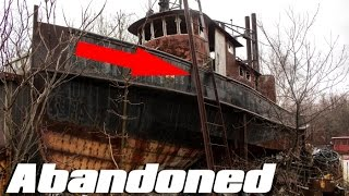 ABANDONED Ship Graveyard (FOUND 100ft. MILLION DOLLAR YACHT!!) Pt. 1