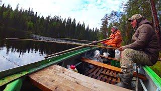 Поездка в лес на 7 дней Рыбалка на таёжном озере Живем с Батей на кордоне Часть 2