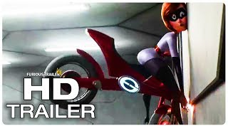 INCREDIBLES 2 Elastigirl's New Elasticycle Crash Movie Clip + Trailer (NEW 2018) Superhero Movie HD