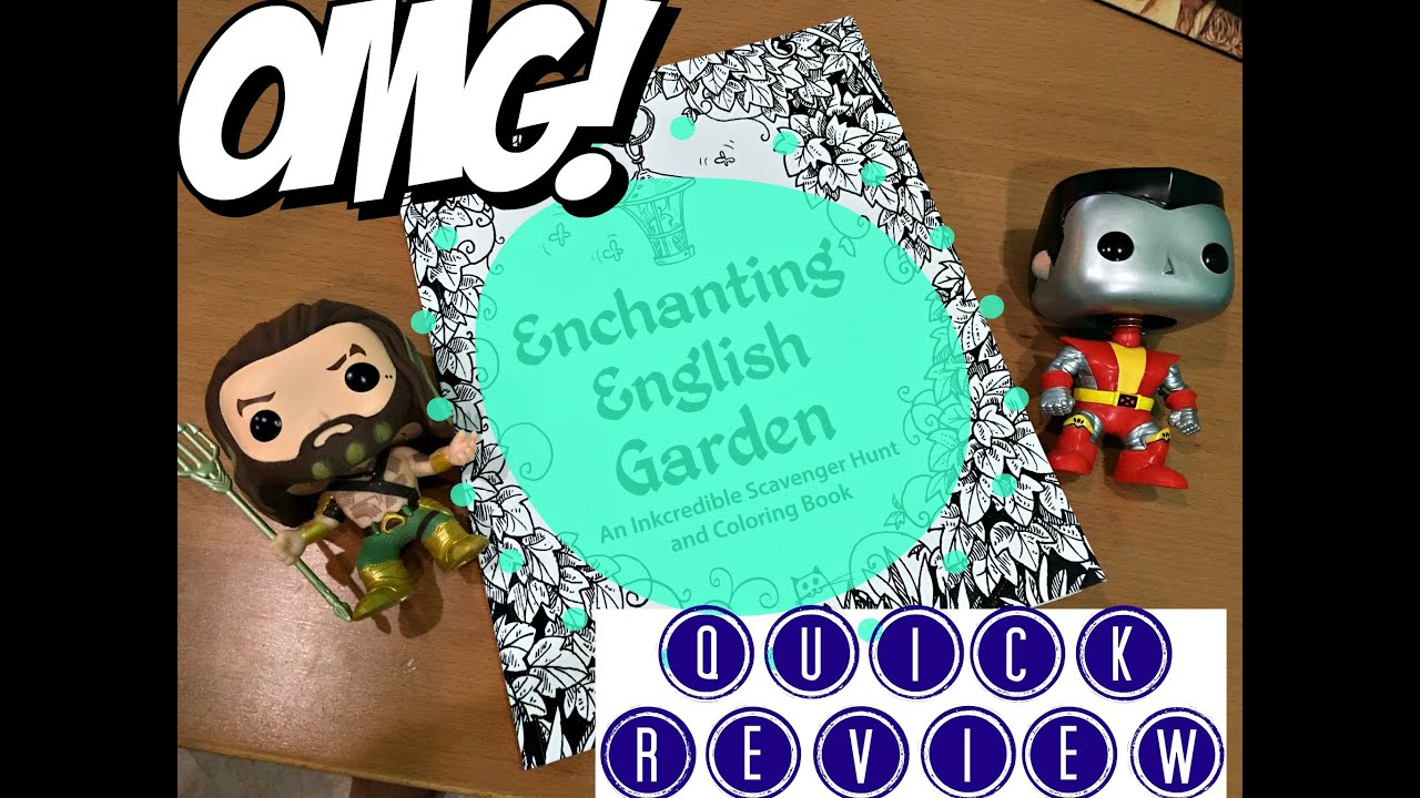 ENCHANTING ENGLISH GARDEN COLORING BOOK QUICK REVIEW