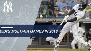 Didi Gregorius' three multi-homer games in 2018