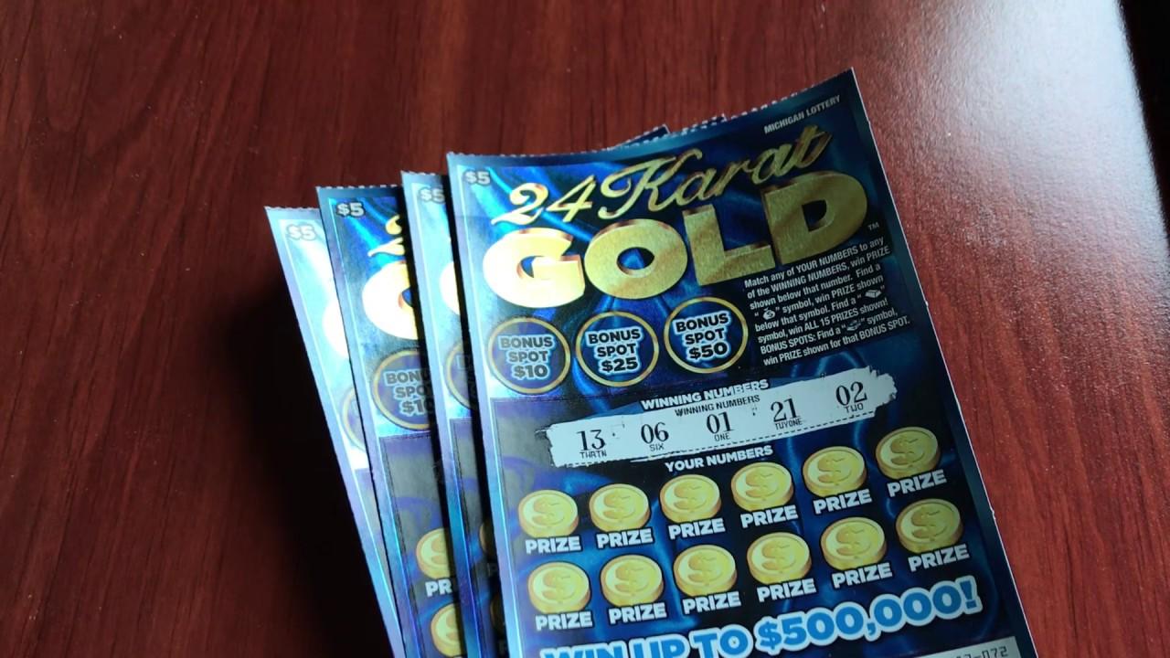 New 5 24 Karat Gold Michigan Lottery