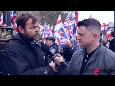 Tommy Robinson vs Media at London Rally