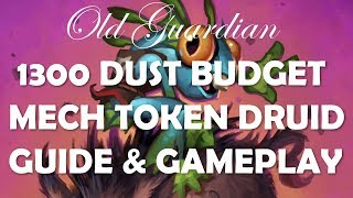 1300 dust Budget Token Druid deck guide and gameplay (Hearthstone Rise of Shadows)