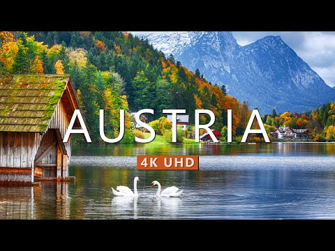 Austria Nature Drone Film (4K UHD) with Calming Piano Music