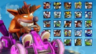 All Characters Skins & Kart Customizations in Crash Team Racing Nitro Fueled