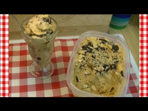 Coffee Cookies & Cream No Churn Ice Cream Recipe ~ Noreen's Kitchen