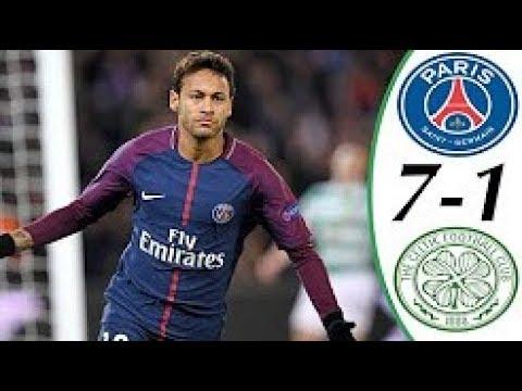 PSG vs Celtic 7-1 Goals and Highlights - Cavani, Neymar UCL