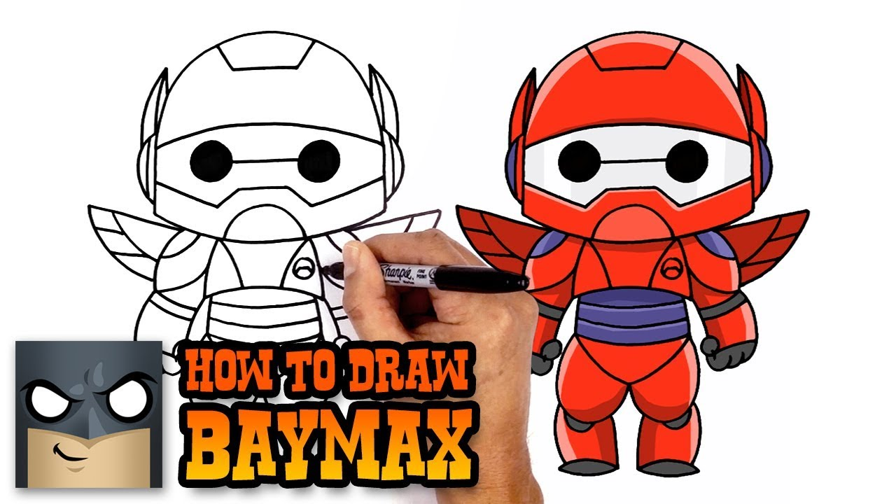 How to draw baymax big hero 6 art tutorial