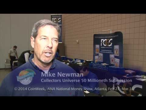 PCGS Awards Collectors Universe 50 Millionth Certified Collectible at ANA. VIDEO: 3:44.