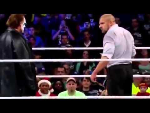 Sting makes his WWE debut at Survivor series 2014 and attacks TripleH