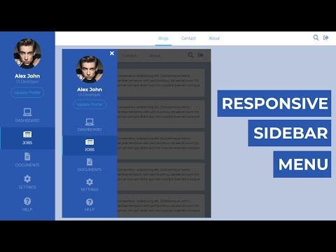 How To Create The Responsive Sidebar Menu Using HTML CSS And Jquery
