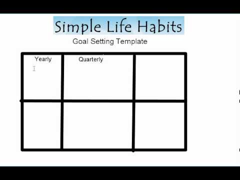 My Favorite Goal Setting Template  Youtube