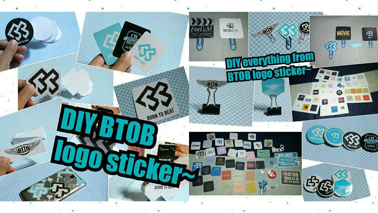 diy kpop 비투비 btob logo stickers youtube diy kpop 비투비 btob logo stickers