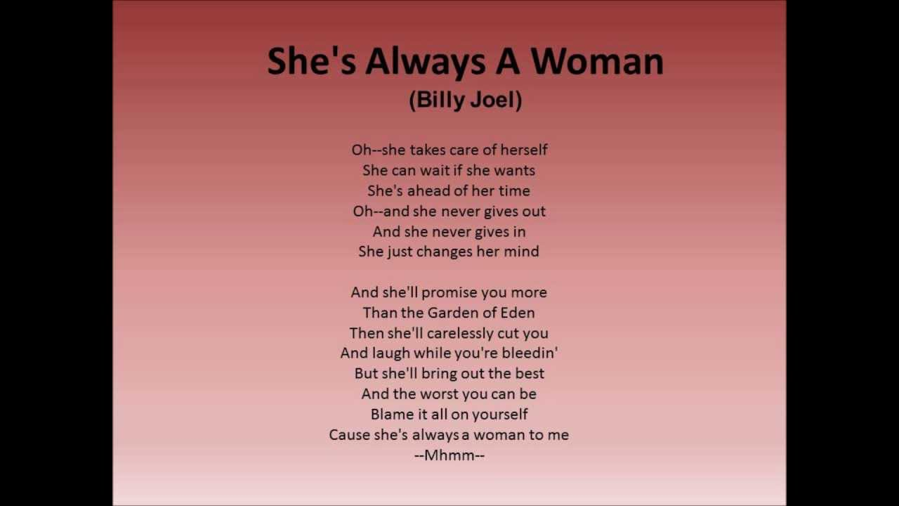 Billy Joel - Always A Woman Lyrics | MetroLyrics